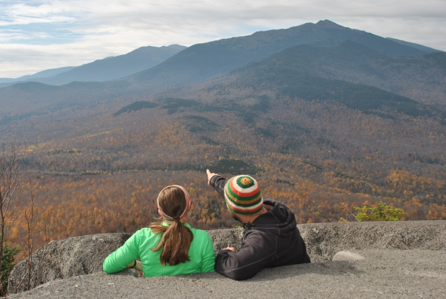 Taking in the fall foliage from the ledges on Pine Mtn.
