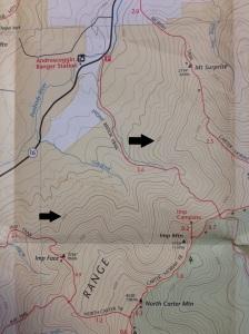 Contour lines - elevation